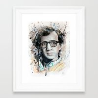 woody allen Framed Art Prints featuring Woody Allen by Denise Esposito