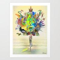 archan nair Art Prints featuring Aurantiaca by Archan Nair