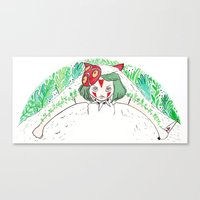 princess mononoke Canvas Prints featuring Mononoke by Geeniejay