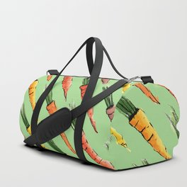 Happy colorful carrots pattern Duffle Bag