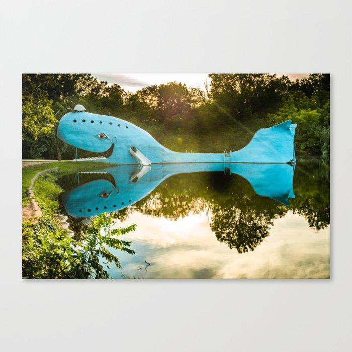 Blue Whale of Rt 66 - Catoosa Oklahoma Leinwanddruck