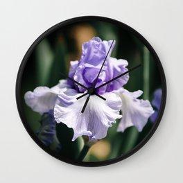 Lavender Iris Wall Clock