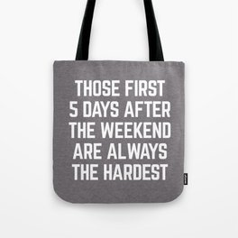 After The Weekend Funny Quote Tote Bag