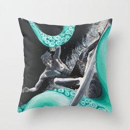 Octo-Surf Throw Pillow