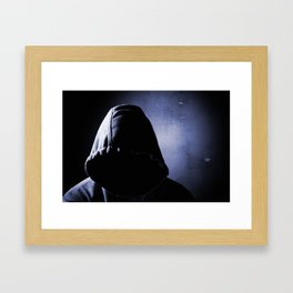 dangerous man in the shadow Framed Art Print