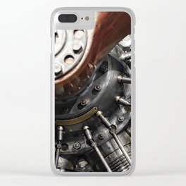 Airplane motor Clear iPhone Case