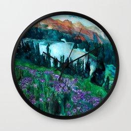 Mountain Scene III Wall Clock