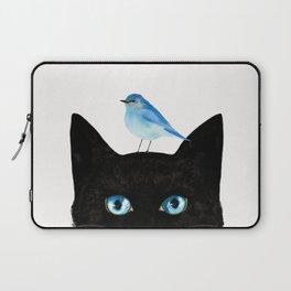 Cat and Bird Laptop Sleeve