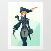 pirate Art Prints featuring Pirate by Lunacy