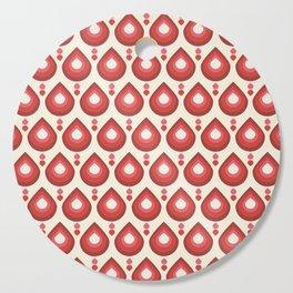 Drops Retro Pink Cutting Board