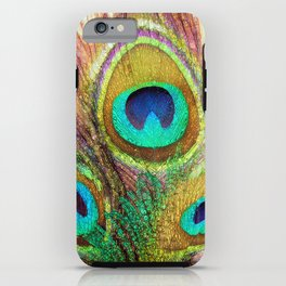 Funky Peacock Feathers iPhone Case