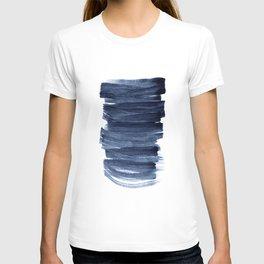 Just Indigo 3 | Minimalist Watercolor Abstract T-shirt