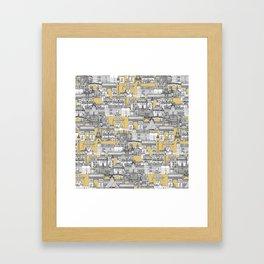 Paris toile gold Framed Art Print