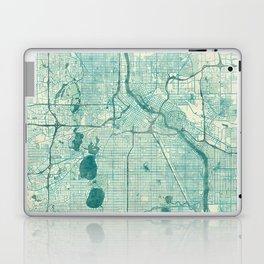 Minneapolis Map Blue Vintage Laptop & iPad Skin