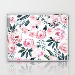 Floral Rose Watercolor Flower Pattern Laptop & iPad Skin