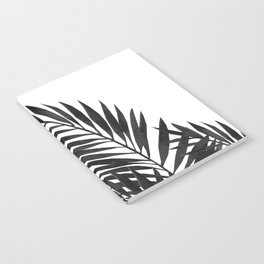 Palm Leaves Black Notebook