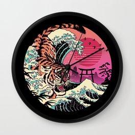 Rad Tiger Wave Wall Clock