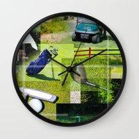 golf Wall Clocks featuring Golf by Andrew Sliwinski