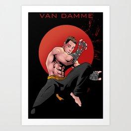 Kickboxer Art Print