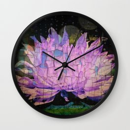 Crackling Lonesome Flower Wall Clock