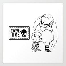 Travel Time Art Print