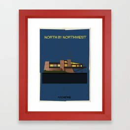 North by Northwest Directed by Alfred Hitchcock Framed Art Print