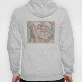 Vintage Map of Canada (1905) Hoody