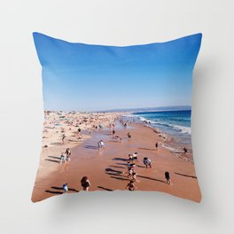Busy Boardwalk Throw Pillow