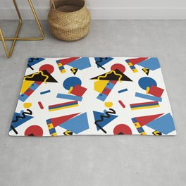 Postmodern Primary Color Party Decorations Rug