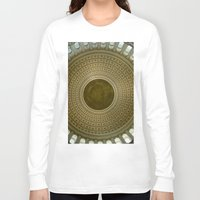 washington dc Long Sleeve T-shirts featuring Looking Up - Capitol Rotunda, Washington DC by David Hohmann