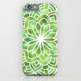 Mandala Green Leaves iPhone Case