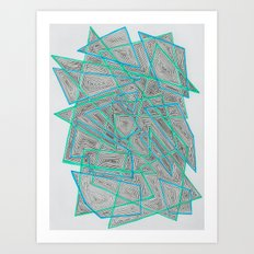 Criss-Cross Art Print