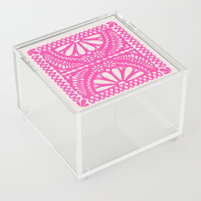 Fiesta de Flores Pink Acrylic Box