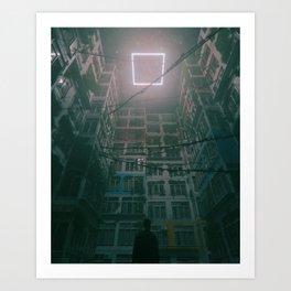 SQUARE HALO (everyday 01.19.18) Art Print