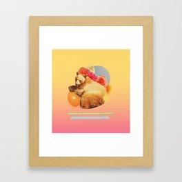 in the warm july sun Framed Art Print