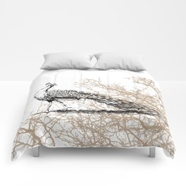 Peacock print Comforters