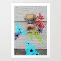 A flower world Art Print