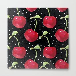 Cherry pattern III Metal Print