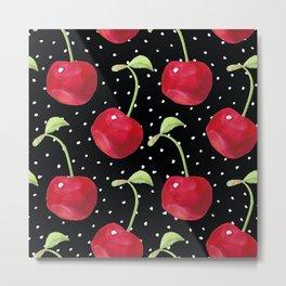 Cherry pattern III Metal Print
