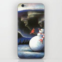 Snowman & Aurora iPhone Skin