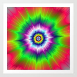 Explosive Tie-Dye Art Print