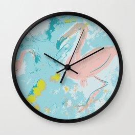 Dreaming flamingoes Wall Clock