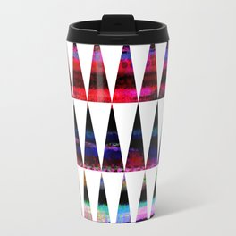 happy colored triangles Travel Mug