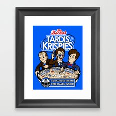 Tardis Krispies Framed Art Print