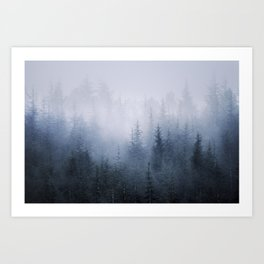 Misty fantasy forest. Art Print