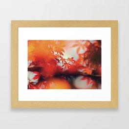 Fall Bokeh Framed Art Print
