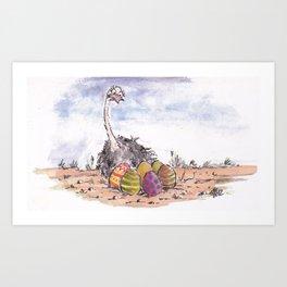 easter ostrich Art Print