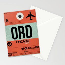 ORD Chicago Luggage Tag 2 Stationery Cards