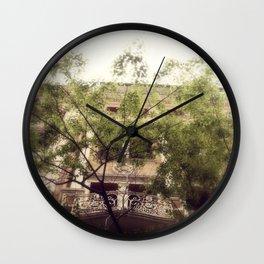 pretty city V Wall Clock