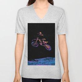 AIR TIME - Motocross Sports Art Unisex V-Neck